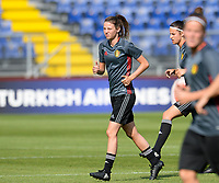 20170719 - BREDA , NETHERLANDS :  Belgian Nicky Van Den Abbeele pictured during Matchday -1 training session of the Belgian national women's soccer team Red Flames on the pitch of NAC BREDA , on wednesday 19 July 2017 in stadion Rat Verlegh in Breda . The Red Flames are at the Women's European Championship 2017 in the Netherlands. PHOTO SPORTPIX.BE | DAVID CATRY