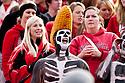 29 October 2011: Nebraska Cornhusker fan cheering on his Huskers against the Michigan State Spartans at Memorial Stadium in Lincoln, Nebraska.  Nebraska defeated Michigan State 24 to 3.