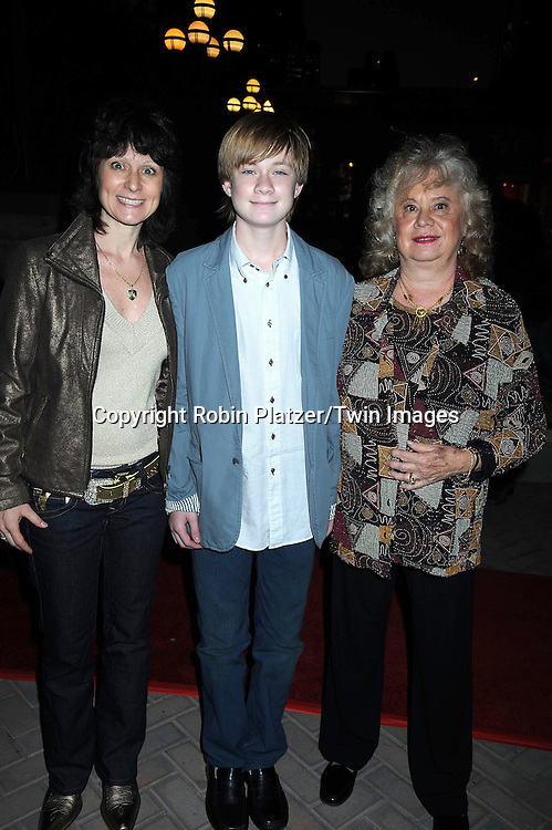 Austin Williams and family, mother Dawn and grandmorther Joyce attending ABC Casino Night on October 28, 2010 at Guastavinos in New York City. .