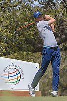 Jordan Spieth (USA) watches his tee shot on 10 during round 1 of the World Golf Championships, Dell Match Play, Austin Country Club, Austin, Texas. 3/21/2018.<br /> Picture: Golffile | Ken Murray<br /> <br /> <br /> All photo usage must carry mandatory copyright credit (&copy; Golffile | Ken Murray)