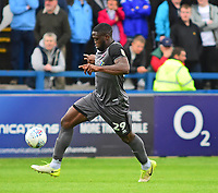 Lincoln City's John Akinde<br /> <br /> Photographer Andrew Vaughan/CameraSport<br /> <br /> The EFL Sky Bet League One - Macclesfield Town v Lincoln City - Saturday 15th September 2018 - Moss Rose - Macclesfield<br /> <br /> World Copyright &copy; 2018 CameraSport. All rights reserved. 43 Linden Ave. Countesthorpe. Leicester. England. LE8 5PG - Tel: +44 (0) 116 277 4147 - admin@camerasport.com - www.camerasport.com