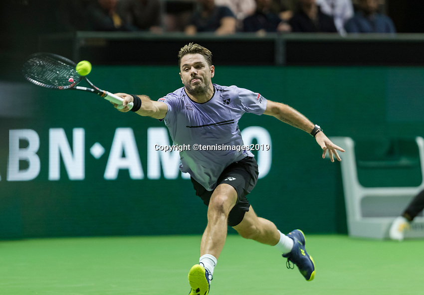 Rotterdam, The Netherlands, 11 Februari 2019, ABNAMRO World Tennis Tournament, Ahoy, Press Conference, first round singles: Stan Wawrinka (SUI),<br /> Photo: www.tennisimages.com/Henk Koster