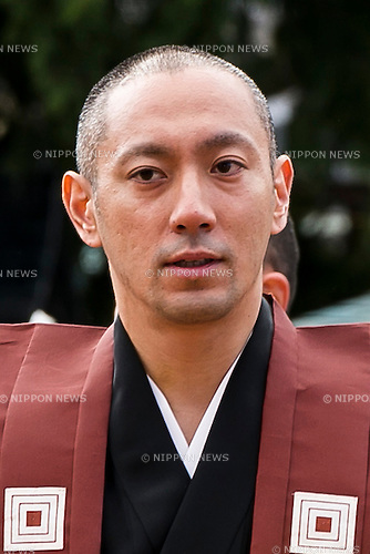 Kabuki actor Ichikawa Ebizo XI attends a Setsubun festival at Naritasan Shinshoji Temple on February 3, 2016, in Chiba, Japan. Setsubun is an annual Japanese festival celebrated on February 3rd and marks the day before the beginning of Spring. Celebrations involve throwing soybeans (known as mamemaki) out of the house to protect against evil spirits and into the house to invite good fortune. In many Japanese families one member will wear an ogre mask whilst others throw beans at him or her. The celebration at Naritasan Shinshoji Temple is one of the biggest in Japan and organizers this year expect over 50,000 people to attend the event. Each year famous sumo wrestlers and actors are also invited to participate in throwing the beans. (Photo by Rodrigo Reyes Marin/AFLO)