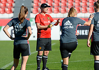 20171023 - PENAFIEL , PORTUGAL :  Belgian head coach Ives Serneels pictured during the matchday -1 training session of the Belgian national women's soccer team Red Flames prior to the game against the women's team of Portugal , on monday 23 October 2017 at Estádio Municipal 25 de Abril in Penafiel. The Red Flames are playing their third game in the Worldcup 2019 France qualification against Portugal. PHOTO SPORTPIX.BE | DAVID CATRY