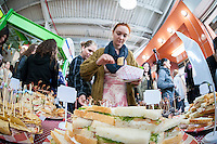 Mobile delivery service UPicnic kicks off their operations at an event in La Marqueta in East Harlem in New York on Saturday, April 2, 2016. La Marqueta contains an incubator kitchen where a number entrepreneurs and start-up small businesses utilize the space. (© Richard B. Levine)
