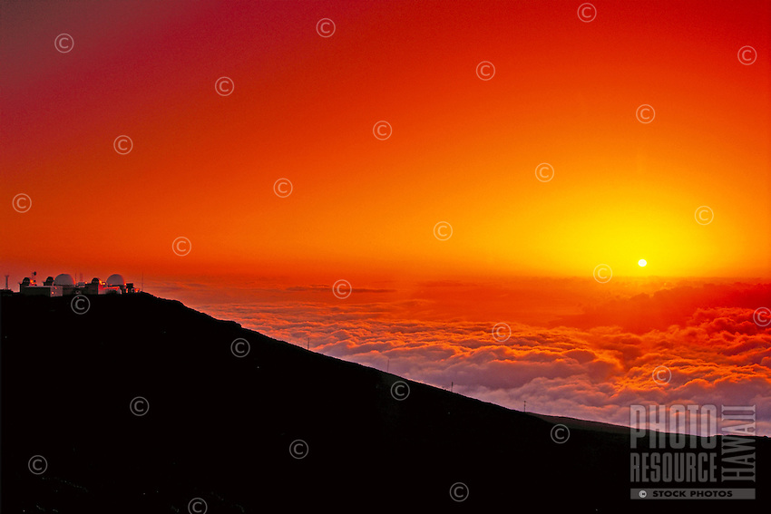 Science City at sunset, Haleakala National Park, Maui