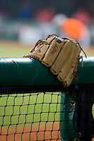 20 August 2007: A glove lies in the dugout during the Czech Republic 6-1 victory over France in the Good Luck Beijing International baseball tournament (olympic test event) at the Wukesong Baseball Field in Beijing, China.