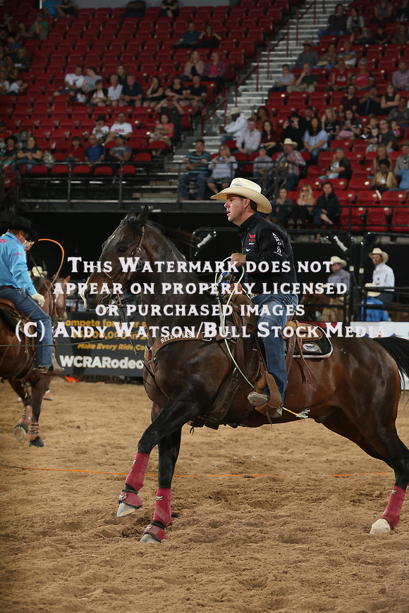 Trevor Brazile during the first round of the Las Vegas WCRA rodeo. Photo by Andy Watson