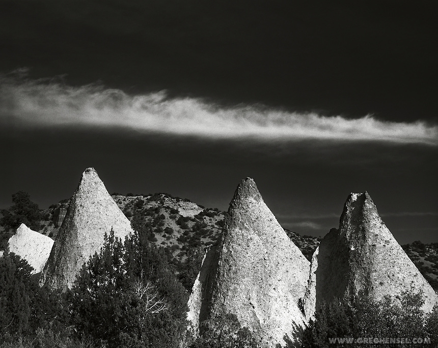 Cone shaped rock formations at Kasha-Katuwe Tent Rocks National Monument, New Mexico, USA.