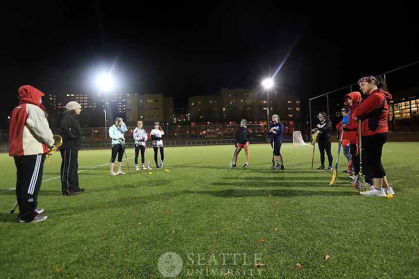 11062012-  Lacrosse team at Seattle U Park