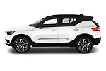 Car driver side profile view of a 2019 Volvo XC40 R-Design 5 Door SUV