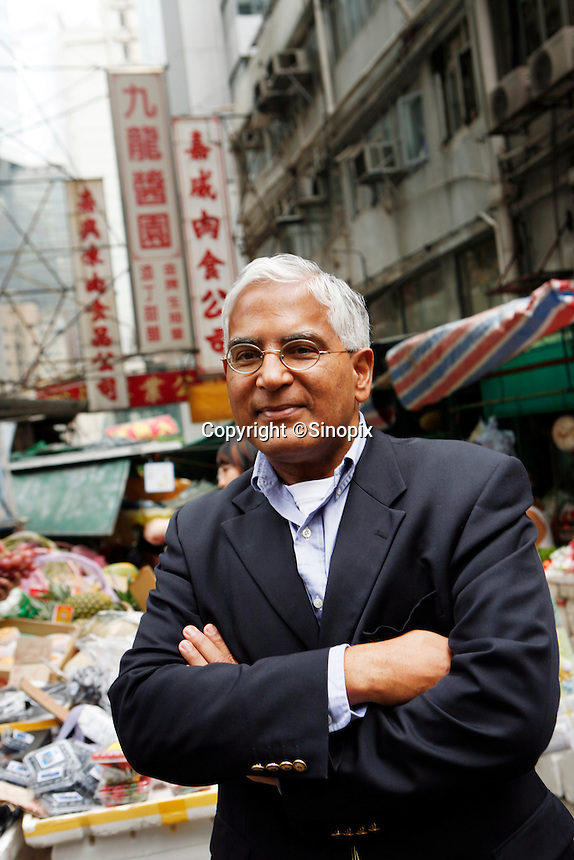 HONG KONG, CHINA-NOVEMBER 08: Gopal Ramanathan pictured in Central market, Hong Kong.