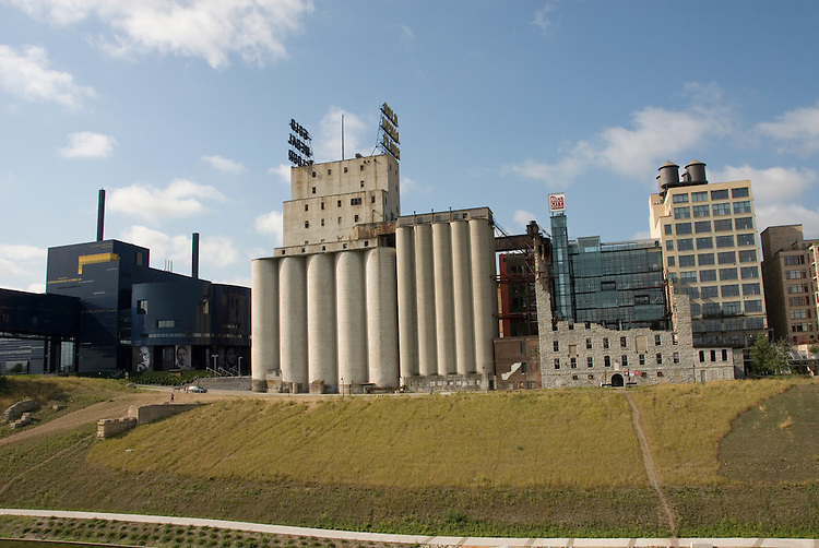 Minnesota, Twin Cities, Minneapolis-Saint Paul: Mill City Museum, showing flour milling history in Minneapolis.  Along with Mill Ruins Park, where the mills were located..Photo mnqual268-75159..Photo copyright Lee Foster, www.fostertravel.com, 510-549-2202, lee@fostertravel.com.