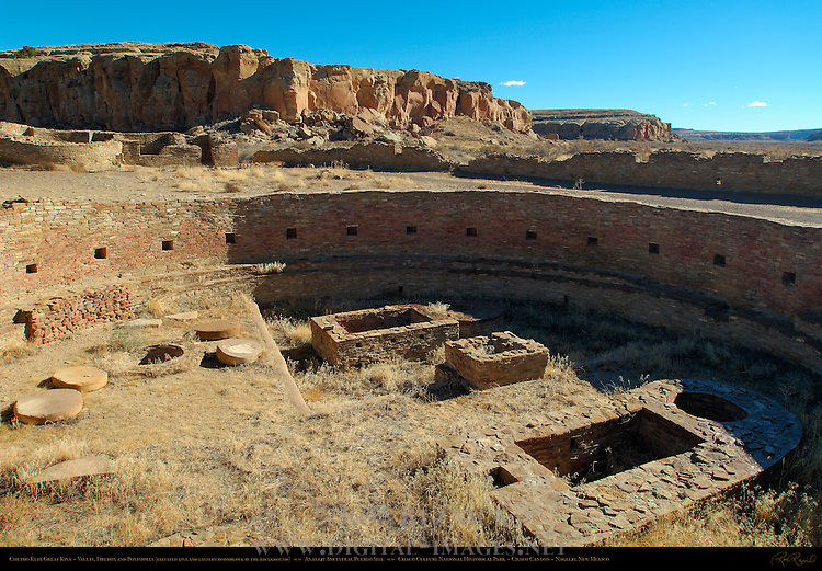 Great Kiva, Chetro Ketl Chacoan Great House, Anasazi Hisatsinom Ancestral Pueblo Site, Chaco Culture National Historical Park, Chaco Canyon, Nageezi, New Mexico