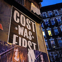 Cost Graffiti, sticker, Greenwich Village, West Village, NYC, New York City