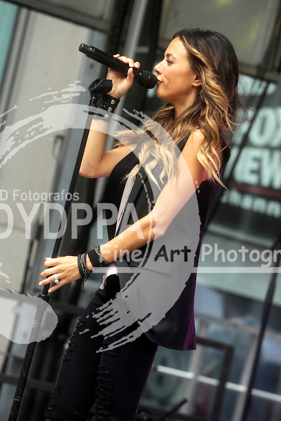 Jana Kramer performs during 'FOX & Friends' All American Concert Series outside of FOX Studios on June 26, 2015 in New York City