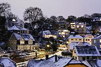 Deutschland, Hamburg, Blankenese, Treppenviertel  im Winter