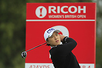 Amy Yang (KOR) on the 2nd tee during Round 3 of the Ricoh Women's British Open at Royal Lytham &amp; St. Annes on Saturday 4th August 2018.<br /> Picture:  Thos Caffrey / Golffile<br /> <br /> All photo usage must carry mandatory copyright credit (&copy; Golffile | Thos Caffrey)