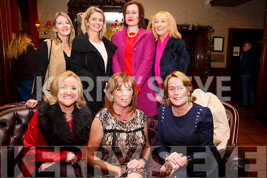 Enjoying the Womens Little Christmas celebrations in the Grand Hotel on Saturday night last. Seated l to r,  Brenda Lynch, Geraldine Carbone (Home from Boston) and Jackie O'Brien, Back row l to r, Elaine Hilliard, Jean Marie Horan, Deirdre McCormack Kennedy and Stella Devaney.