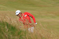 Soomin Lee (KOR) on the 1st during Round 1 of the Dubai Duty Free Irish Open at Ballyliffin Golf Club, Donegal on Thursday 5th July 2018.<br /> Picture:  Thos Caffrey / Golffile