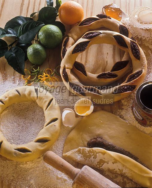 Europe/Malte: Couronne à la semoule et au miel