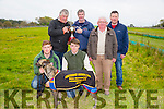 "The Bill McCarthy Memorial Cup winner "" Bia Belle at Abbeydorney Coursing on Sunday.Pictured l-r  Robert White, Bernard White, Berni White, Dan McCarthy, Tom White and Dave Connell. Greyhound is from Clonmel."