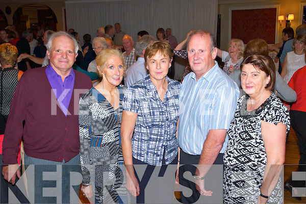 Fundraising ceili at the Devon Inn Hotel, Templeglantine for Fr. Chris O'Donnel and his missions in Argentina. Pictured L-R: John Loftus, Eileen Loftus, Catherine O'Riordan and Tadhg O'Riordan of Herbertstown and Ann Quinlan of Ballyduff.