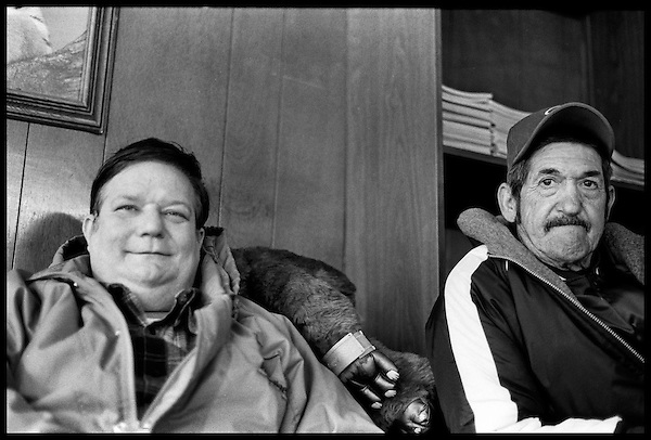 Peter, Mr. Green's nephew, and Joe, a local man from the neighborhood who is in  and out of shelters around the city..
