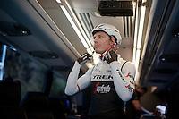 Boy Van Poppel (NLD/Trek-Segafredo) getting ready for the pre-Giro TT-training ride with Team Trek-Segafredo in Gelderland (The Netherlands)<br /> <br /> 99th Giro d'Italia 2016