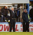Morton manager Jim Duffy appealing for a penalty