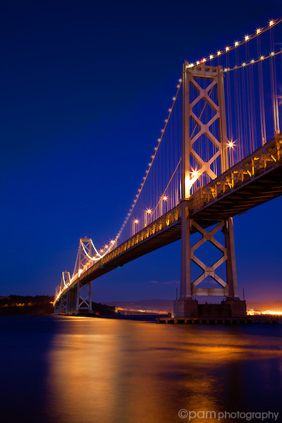 Just after sunset at San Francisco's Bay Bridge