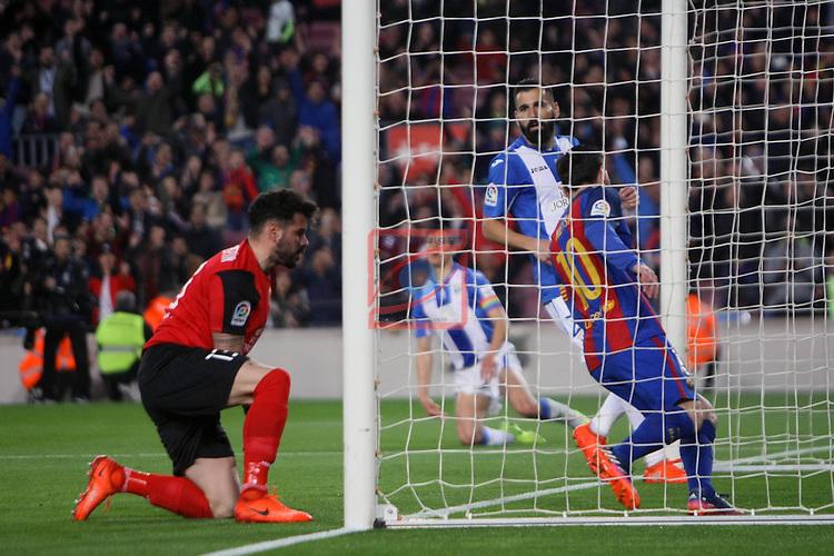 League Santander 2016/2017. Game: 23.<br /> FC Barcelona vs CD Leganes SAD: 2-1.<br /> 1-0: Lionel Messi.