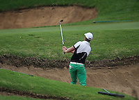 Lucas Bjerregaard (DEN) pops his ball out of the 17th bunker during Round Three of The Tshwane Open 2014 at the Els (Copperleaf) Golf Club, City of Tshwane, Pretoria, South Africa. Picture:  David Lloyd / www.golffile.ie