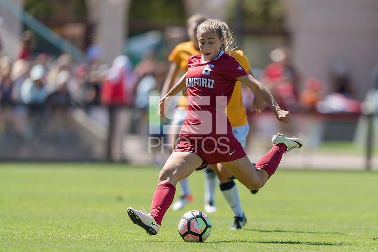 Stanford, CA - September 4, 2016:  Carly Malatskey during the Stanford vs Marquette Women's soccer match in Stanford, California.  The Cardinal defeated the Golden Eagles 3-0.