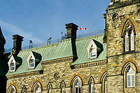 Ottawa (ON) CANADA - File Photo - <br /> Canadian House of Commons (Parliament of Canada) copper roof top.<br /> <br /> <br /> photo by Pierre Roussel - Images Distribution