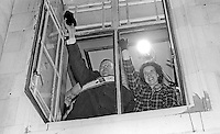 Rev Ian Paisley waves to supporters from the Town Hall, Ballymena, Co Antrim, after winning the Bannside seat previously held by former Ulster Unionist Prime Minister, Captain Terence O'Neill. He is accompanied by his wife, Mrs Eileen Paisley. 16th April 1970. 197004160116c<br /> <br /> Copyright Image from Victor Patterson, 54 Dorchester Park, <br /> Belfast, UK, BT9 6RJ<br /> <br /> t1: +44 28 9066 1296 (from Rep of Ireland 048 9066 1296)<br /> t2: +44 28 9002 2446 (from Rep of Ireland 048 9002 2446)<br /> m: +44 7802 353836<br /> <br /> e1: victorpatterson@me.com<br /> e2: victorpatterson@gmail.com<br /> www.victorpatterson.com<br /> <br /> Please see my Terms and Conditions of Use at www.victorpatterson.com. It is IMPORTANT that you familiarise yourself with them.<br /> <br /> Images used on the Internet must be visibly watermarked i.e. © Victor Patterson<br /> within the body of the image and copyright metadata must not be deleted. Images <br /> used on the Internet have a size restriction of 4kbs and will be chargeable at current<br />  NUJ rates unless agreed otherwise.<br /> <br /> This image is only available for the use of the download recipient i.e. television station, newspaper, magazine, book publisher, etc, and must not be passed on to any third <br /> party. It is also downloaded on condition that each and every usage is notified within 7 days to victorpatterson@me.com<br /> <br /> The right of Victor Patterson to be identified as the author is asserted in accordance with The Copyright Designs And Patents Act (1988).