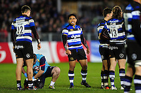 Ben Tapuai of Bath Rugby looks on during a break in play. Aviva Premiership match, between Bath Rugby and Bristol Rugby on November 18, 2016 at the Recreation Ground in Bath, England. Photo by: Patrick Khachfe / Onside Images