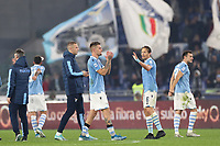 Lazio celebrate at the end of the match<br /> Roma 07-12-2019 Stadio Olimpico <br /> Football Serie A 2019/2020 <br /> SS Lazio - Juventus FC<br /> Photo Cesare Purini / Insidefoto