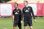 11.07.2017, Sportplatz, Zell am Ziller, AUT, TL Werder Bremen 2017 - Training Tag 05, <br /> <br /> im Bild <br /> Alexander Nouri (Trainer SV Werder Bremen) (li)<br /> Markus Feldhoff (Co-Trainer SV Werder Bremen)<br /> <br /> Foto &copy; nordphoto / Kokenge
