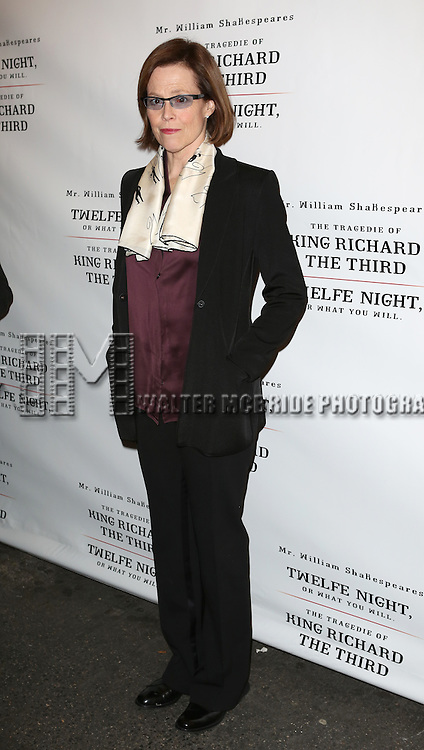 Sigourney Weaver attends the Broadway Opening Night Performance of 'Twelfth Night' at the Belasco Theatre on November 10, 2013 in New York City.