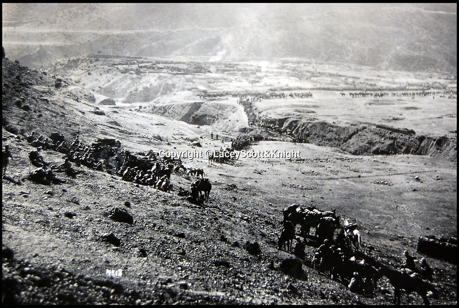 BNPS.co.uk (01202 558833)<br /> Pic: LaceyScott&Knight/BNPS<br /> <br /> Epic scene as the army deploys on a high altitude plateau.<br /> <br /> From the far reaches of the British Empire - Remarkable previously unseen photos of a forgotten military campaign has come to light 100 years later.<br /> <br /> The little known Waziristan campaign of 1919 and 1920 saw the British and Indian forces engaged in fierce fighting against Afghan tribesman who invaded northern India.<br /> <br /> However, the conflict, which saw the use of the might of the RAF in targeted bombing raids, has become almost lost to history since it took place just after the Great War.<br /> <br /> The battleground was the rugged, remote, mountainous region which is modern day northern Pakistan, on the southern border of Afghanistan.