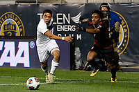 Chester, PA - Friday December 08, 2017: Niko De Vera, Bryce Marion The Stanford Cardinal defeated the Akron Zips 2-0 during an NCAA Men's College Cup semifinal match at Talen Energy Stadium.