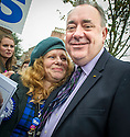 First Minister Alex Salmond with an admirer on the campaign trail.