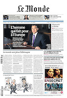 Le Monde (main French daily): <br /> Hungarian prime minister Viktor Orban, 02.2012<br /> Pictures: Martin Fejer