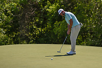 Scott Piercy (USA) watches his putt on 9 during round 1 of the AT&T Byron Nelson, Trinity Forest Golf Club, at Dallas, Texas, USA. 5/17/2018.<br /> Picture: Golffile | Ken Murray<br /> <br /> <br /> All photo usage must carry mandatory copyright credit (© Golffile | Ken Murray)