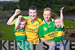 The Boyle family from Arrabella, Ballymacelligott will have divided loyalties on Sunday as Kerry face Kierans home county of Donegal in the All Ireland Quarter final from left: Kyran, Kieran Zelda and Fallon Boyle.