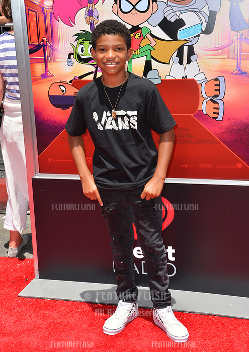 Lonnie Chavis at the premiere for &quot;Teen Titans Go! to the Movies&quot; at the TCL Chinese Theatre, Los Angeles, USA 22 July 2018<br /> Picture: Paul Smith/Featureflash/SilverHub 0208 004 5359 sales@silverhubmedia.com