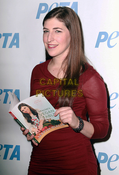 27 February 2013 - Los Angeles, California - Mayim Bailik. &quot;Mayim's Vegan Table&quot; by Mayim Bialik of &quot;Blossom&quot; and &quot;The Big Bang Theory&quot; Book Launch held at PETA LA's Bob Barker Building. <br /> CAP/ADM/BP<br /> &copy;Theresa Bouche/AdMedia/Capital Pictures