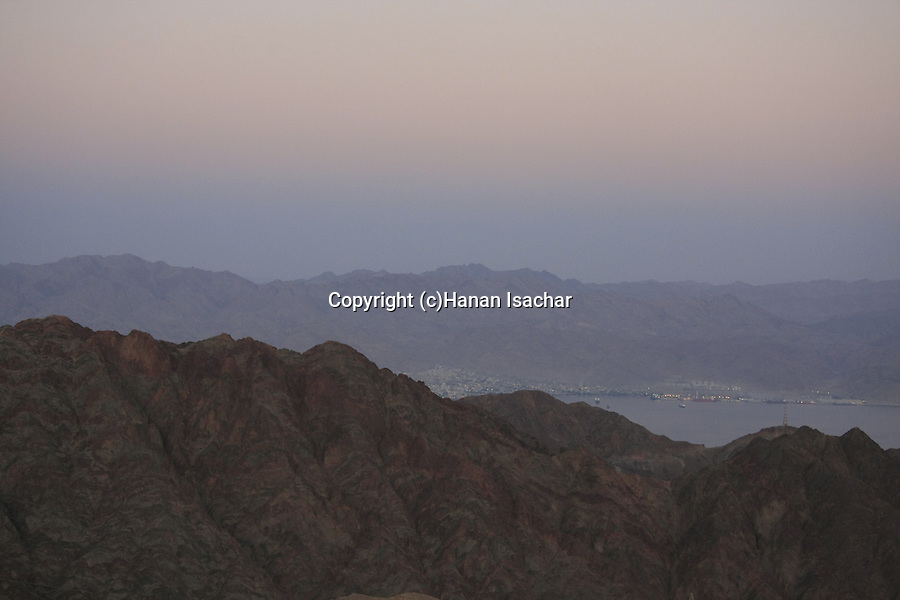 Israel, Eilat Mountains, a view of Mount Shlomo from Mount Yoash