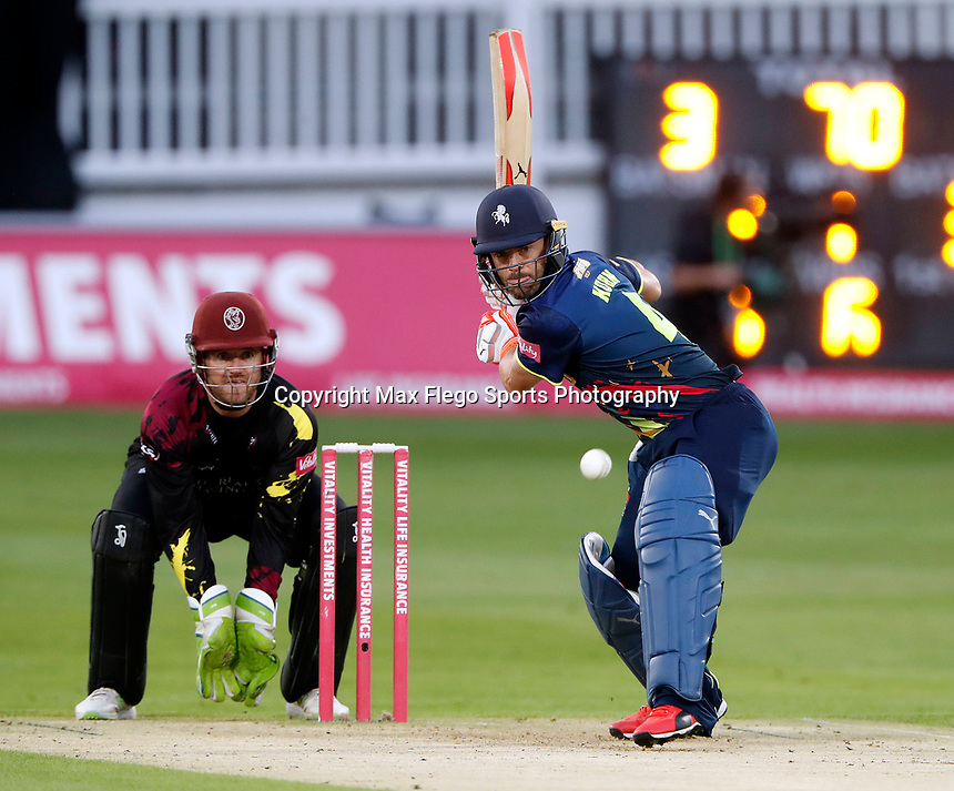 Heino Kuhn bats for Kent during the Vitality Blast T20 game between Kent Spitfires and Somerset at the St Lawrence Ground, Canterbury, on Thur Aug 16, 2018